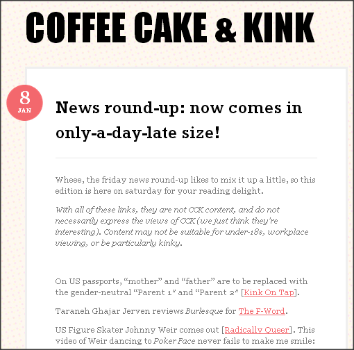 CCK Wordpress Friday Round Up Screen Shot