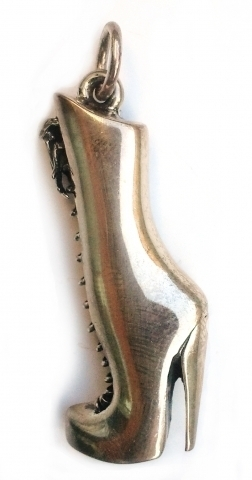 kinky Boot Pendant - Silver